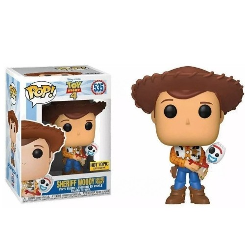 Funko Pop Sheriff Wood Exclusive Hot Topic-Toy Story 4-535