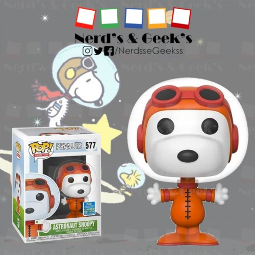 Funko Pop Snoopy Astronauta Exclusivo Sdcc2019 - Peanuts - #577
