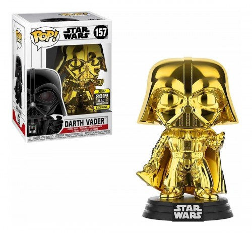 Funko Pop Star Wars - Darth Vader Gold #157 - Galactic Convention-Stars Wars-157