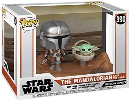 Funko Pop Serie/seriado - Star Wars- The Mandalorian With The Child  390-Stars Wars-390