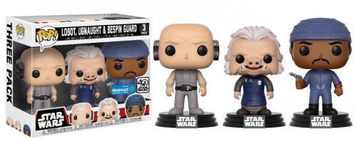 Funko Pop Star Wars 3 Pack: Lobot, Ugnaught & Bespin Guard - Stars Wars - #3