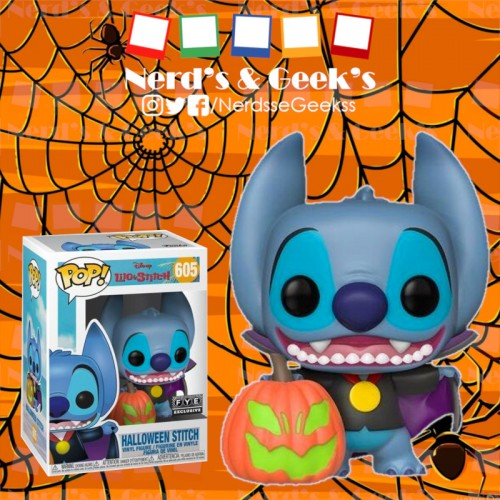 Funko Pop Stitch Halloween Exclusivo Fye-Lilo e Stitch-605