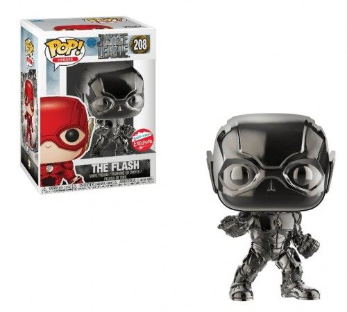 Funko Pop The Flash Black Chrome (fugitive Toys), Justice League 208-Justice League-208