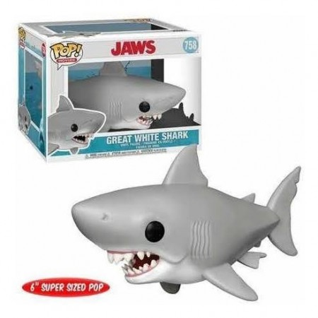 Funko Pop Filmes - Tubarão - Graet White Shark 758-Jaws-758