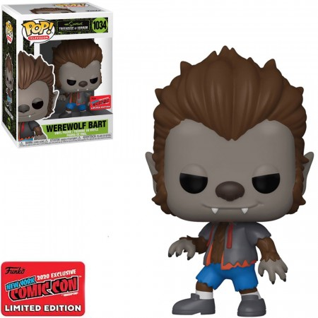 Funko Pop Werewolf Bart Exclusivo Nycc-The Simpsons Treehouse Of Horror-1034