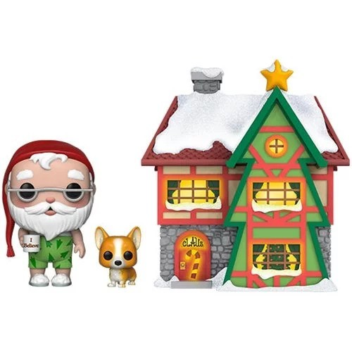Funko Town Santa's House, Santa And Nutmeg-Peppermint Lane-100