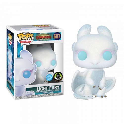 Funko Pop Light Fury Glitter-Como Treinar seu Dragão-687