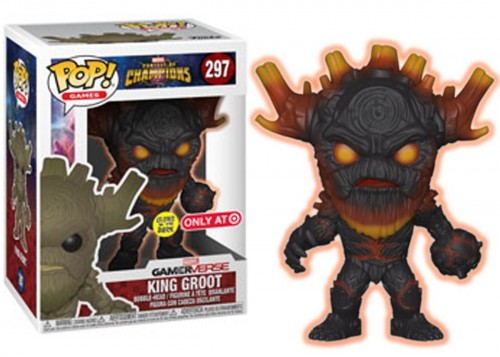 Funko Pop - Champions: King Groot (exc Target)-Contest of Champions-297