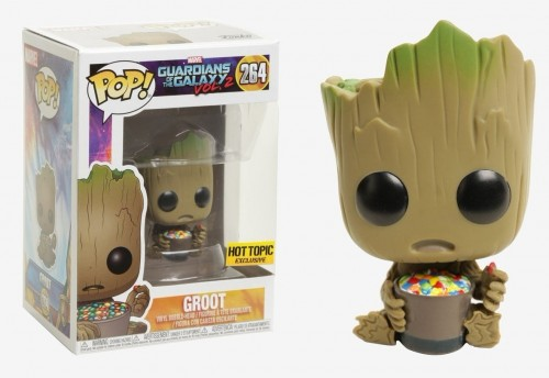 Funko Pop - Guardioes Da Galaxia: Baby Groot With Mms (exc Hot Topic)-Guardiões da Galáxia Vol 2-264