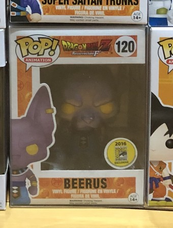 Funko Pop Beerus Sdcc 2016 Metalico-dragon ball Z-120