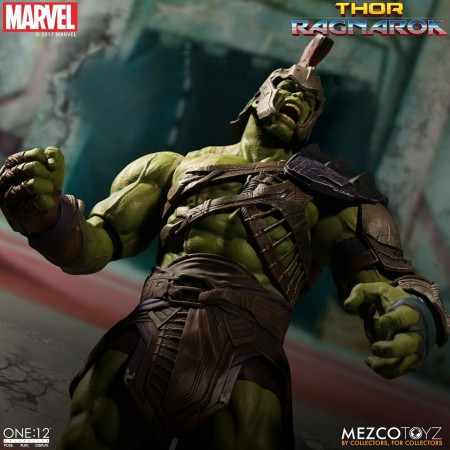 Action Figures Gladiator Hulk Ragnarok One:12 Collective Mezco-hulk-
