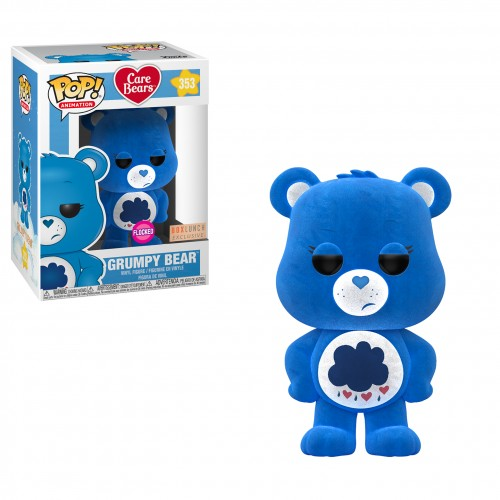 Grumpy Bear Flocked - Care Bears - Funko Pop! Exclusivo Box Lunch-Ursinho Carinhosos-353