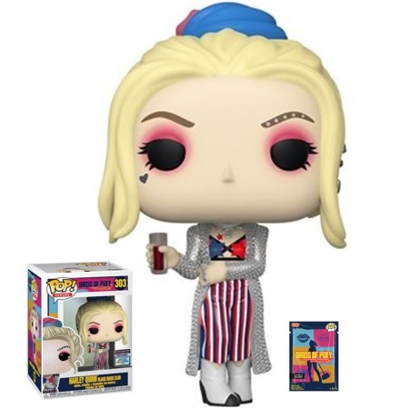 Funko Pop Harley Quinn Black Mask Club - Entertainment Earth Exclusive-Birds Of Prey-303