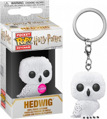 Chaveiro Hedwing Floked-Harry Potter-