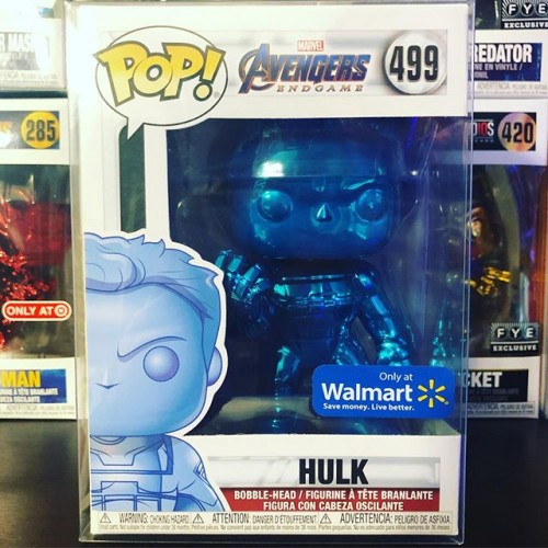 Funko Pop Hulk Chrome Blue-Avengers Endgame-499