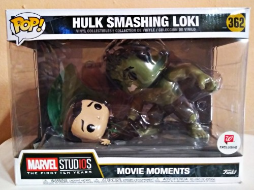Funko Pop Movie Moments Hulk Smashing Loki-Vingadores-1
