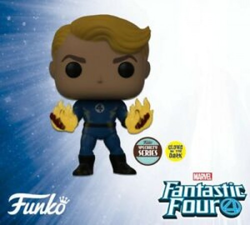 Funko Pop Human Torch Suited Brilha No Escuro Special Series-Fantastic Four-100