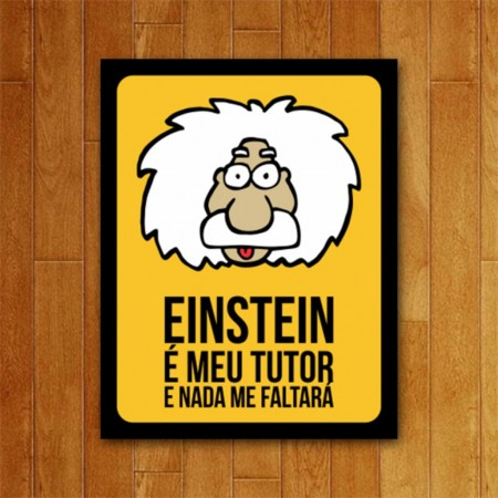 Placas e Quadros Decorativos Einstein-albert einstein-