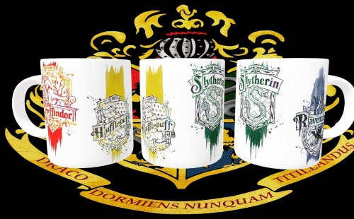 Caneca Harry Potter Casas-Harry Potter-