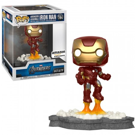 Funko Pop Iron Man 584 (movie Moments Deluxe)-Marvel Studios-584