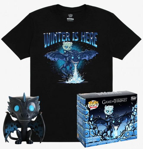Funko Pop Icy Viserion Glow In The Dark + Camiseta G - Box Lunch-Game of Thrones-22
