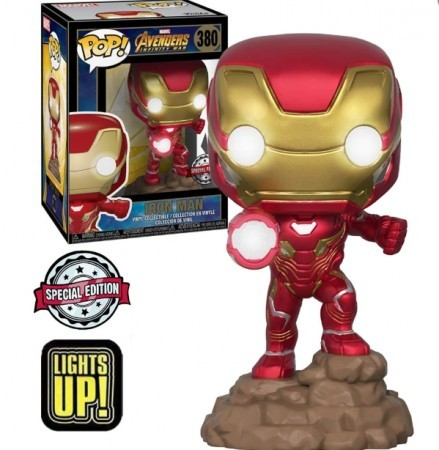 Funko Pop Iron Man | Light's Up! Special Edition-Avengers Infinity War-380