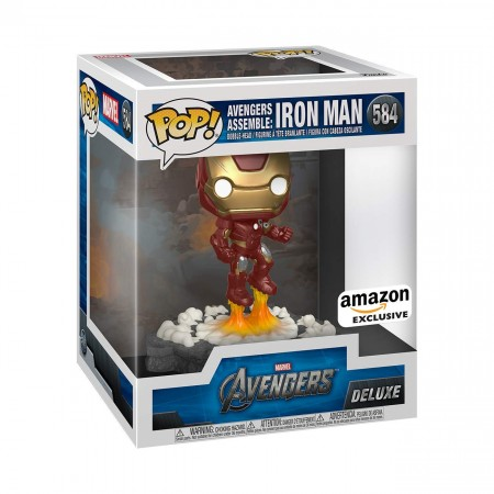 Iron Man Avengers Assemble Marvel Deluxe Funko Pop! Exclusivo Amazon-Iron Man-584