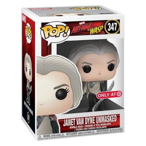 Funko Pop Janet Van Dyne Unmasked Exclusive Com Protetor Ant-man And The Wasp - marvel - #347