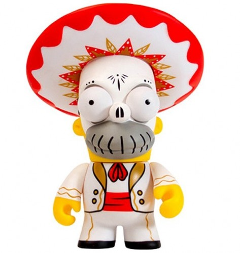 Action Figures Kidrobot Homer Simpsons Day Of The Dead-The Simpsons-