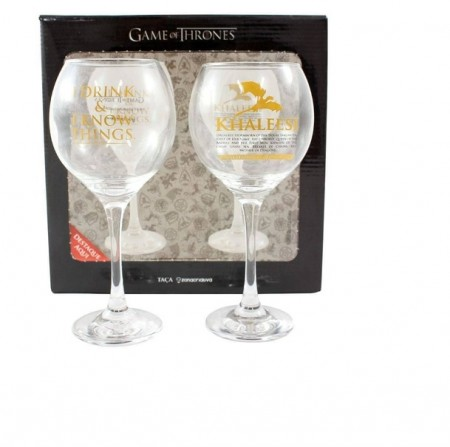 Caneca e Copo Kit 2 Taças - Game Of Thrones - Produto Oficial-Game of Thrones-