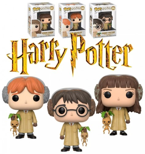 Kit Funko Pop! Harry Potter, Ron Weasley, Hermione - Herbology-Harry Potter-555657