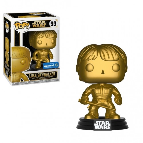 Funko Pop Luke Skywalker Gold - Walmart-Star Wars-93