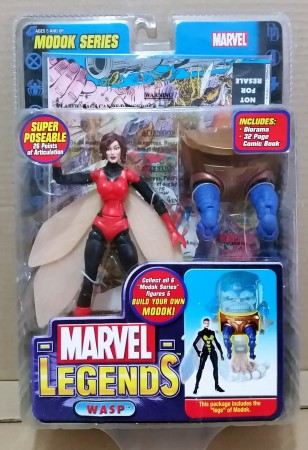 Action Figures Marvel Legends Modok Series Wasp Red Costume Variant Vespa-Marvel Comics-