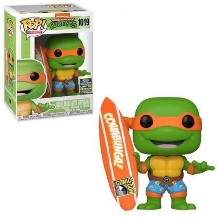 Funko Pop Michelangelo With Surfboard-Teenage Mutant Ninja Turtles-1019