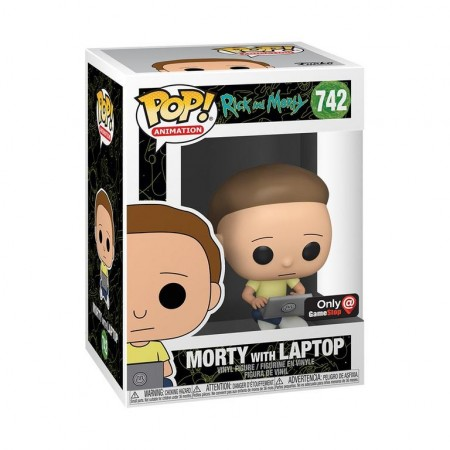 Morty With Laptop - Rick And Morty - Funko Pop! Exclusivo Gamestop - Rick And Morty - #742
