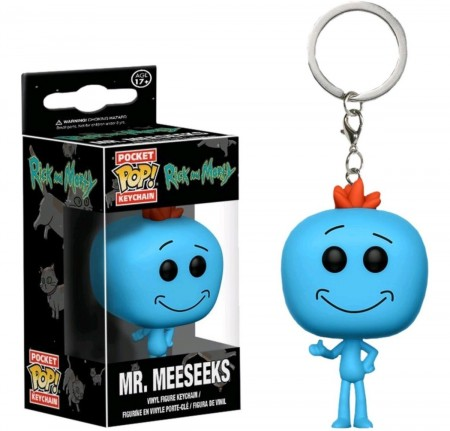 Chaveiro Mr Meeseeks - Pocket Pop! Funko-Rick and Morty-