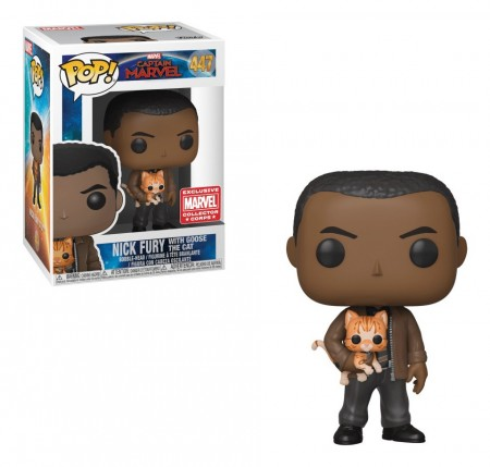 Funko Pop Nick Fury C/ Goose The Cat-Captain Marvel .-447