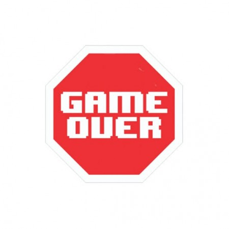 Action Figures Placa Decorativa-Game Over-