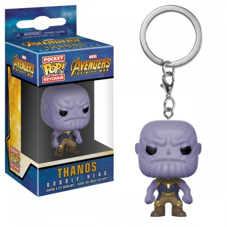 Pocket Pop! Marvel - Vingadores - Thanos - Chaveiro-marvel-