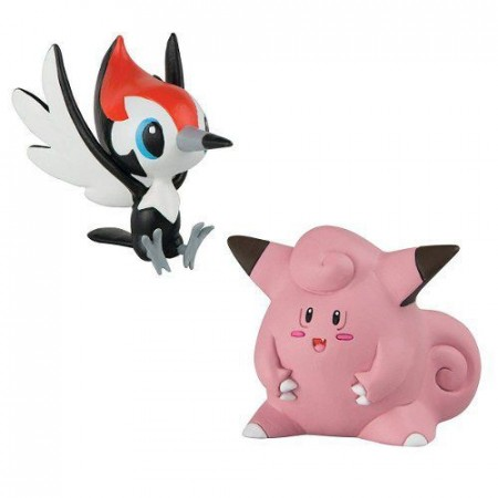 Action Figures Pokemon Pikipek Vs Clefairy - Pokemon - #