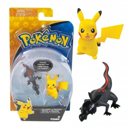 Action Figures Pokemon Salandit Vs Pikachu-Pokemon-