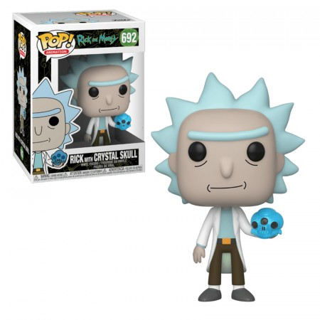 Pop! Funko Rick Com Caveira De Cristal-Rick And Morty-692