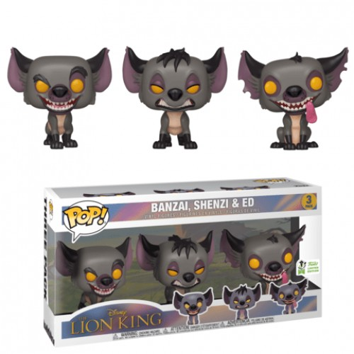 Funko Pop - Lion King Rei Leão - Shenzi Banzai E Ed Hienas #3 Pack-Lion King-2019
