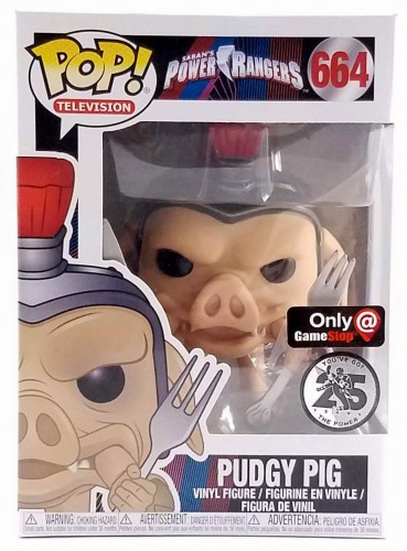 Pudgy Pig - Power Rangers - Funko Pop! Gamestop-Power Rangers-664