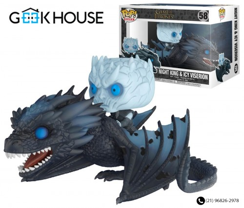 Funko Rei Da Noite Montado No Viserion-Game of Thrones-58