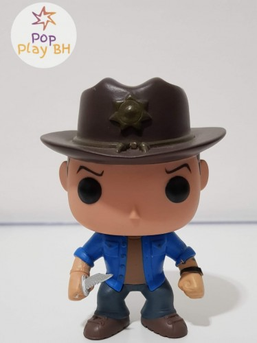 Funko Pop Rick Grimes Customizado-The Walking Dead-1