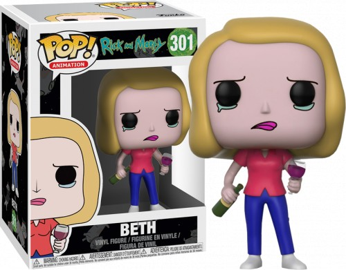 Rick And Morty Beth With Wine Glass Funko Pop-Rick and Morty-301