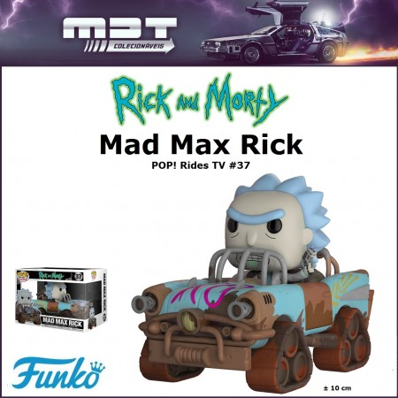 Funko Pop Rides -  Mad Max Rick - Rick And Morty - #37
