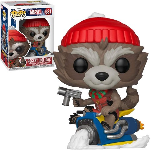 Funko Pop Rocket Holiday-Guardiões da Galáxia-531