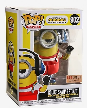 Funko Pop Roller Skating Stuart Boxlunch Exclusive-Minions The Rise Of Gru-902